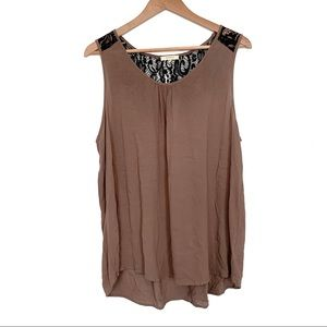 Pleione tank top high low blouse